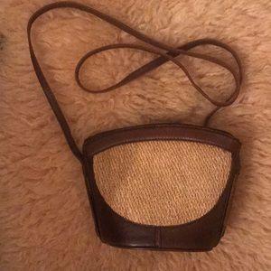 Elliot Lucca straw/leather crossbody bag